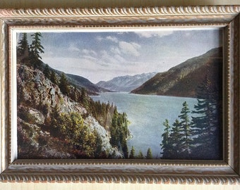 Lake Chelan High School Chelannual 1927 Vintage Tinted Photograph
