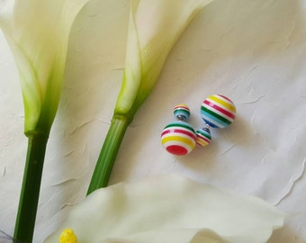 Double sided rainbow earring