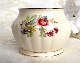 SADLER Sugar Bowl, Sadler Sugar Pot, Vintage Sadler Sugar Bowl, Hand Painted Sugar Bowl, Vintage Sadler, Vintage Kitchen, Retro Kitchen