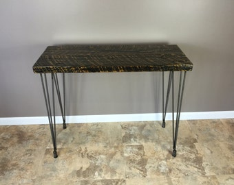 Reclaimed Wood, Table / Desk With Hairpin Legs