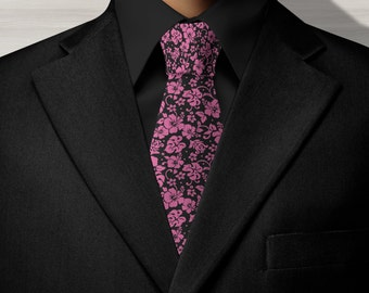 Hibiscus Hawaiian Tie, Necktie, Neck ties, Scarfs, Bandanna,Pacific Island Tie, Mens Tie, Mens Ties,Mens neck ties.