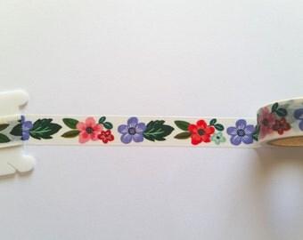 Spring Flowers Washi Tape // Sample // Item #WT003