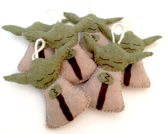 Handmade Yoda Decoration in Felt