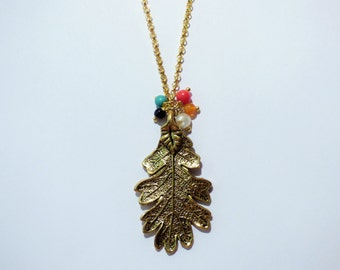 Multicolor Leaf Necklace CO029/CO034