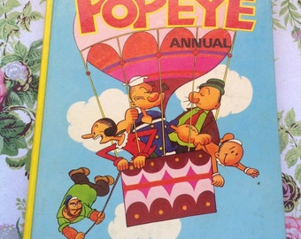 Vintage Popeye Annual/ Popeye the Sailor/ Children's Book/ Collectible Book - 1973