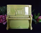 RESERVED - Vintage USA 528 Shawnee Pottery Piano, Retro Green Planter - 1950's /1960's Home Decor
