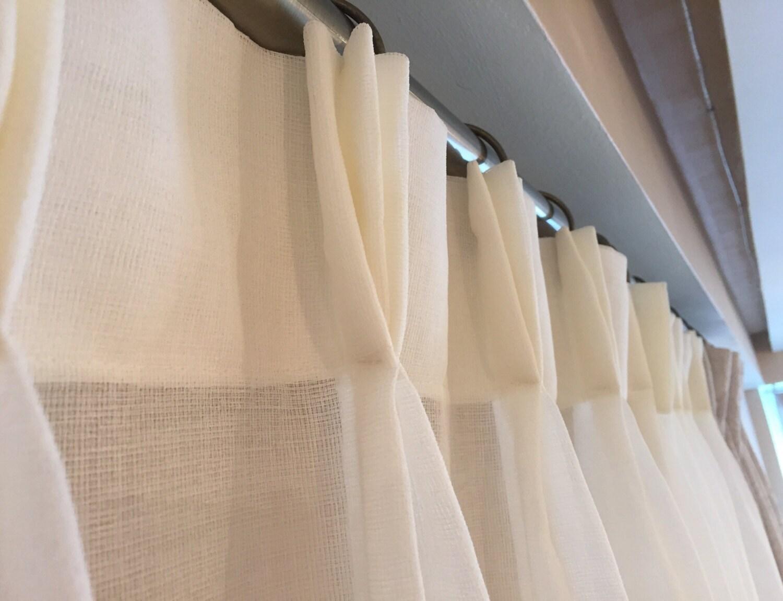 Designer sheer curtains -  Zoom
