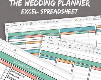wedding excel sheets