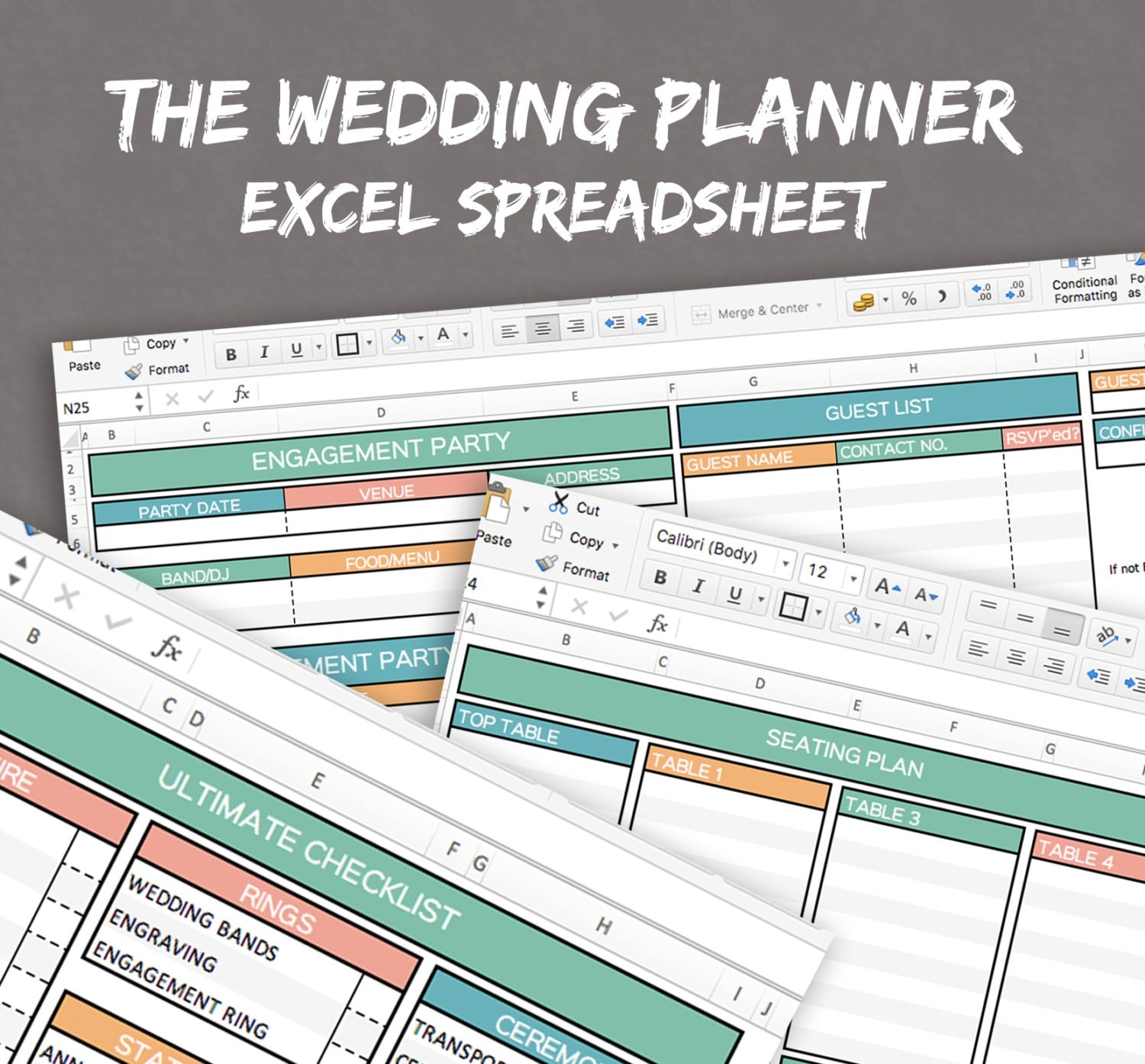 wedding excel sheet