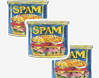 Mini Spam Can (3stickers) *Vinyl Sticker Waterproof