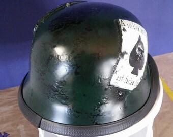 USMC Logo with Deadman card Helmet