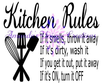 Kitchen Rules SVG File