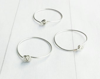 Sterling Silver Stack Ring - Silver Stacking Rings - Ring Set - Simple Stack Ring - Three Ring Set - Ring - Minimalist Rings