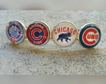 Chicago Cubs Lg. hair clip