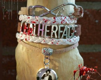 Infinity love Leatherface bracelet