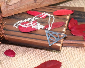 Harry Potter Jewelry,Personalzied Necklace,Harry Potter,Harry Potter Inspired,Deathly Hallows Necklace,Triforce Necklace,Harry Potter Gift