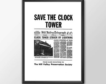Save The Clock Tower Version 2 - Back To The Future - Buy 2 Get 1 Free