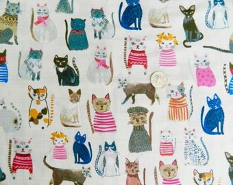 Cool Cats by Carolyn Gavin of Ecojot For Windham Fabrics