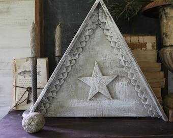 Barn Star Pediment -  Chalky White - Folk art