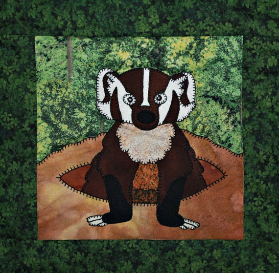Badger Pdf Applique Quilt Block Pattern North American