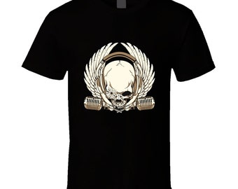 Headphones Skull t-shirt. Headphones Skull tshirt for him or her. Headphones Skull tee as Headphones Skull idea gift. Headphones Skull gift