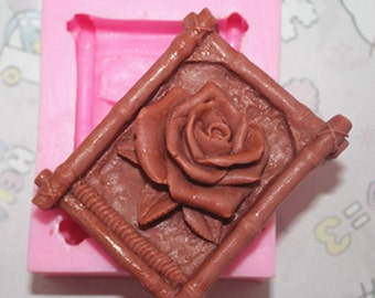 Rose Soap Mold Flower Silicone Mold DIY Handmade Soap Mold, M782,M792