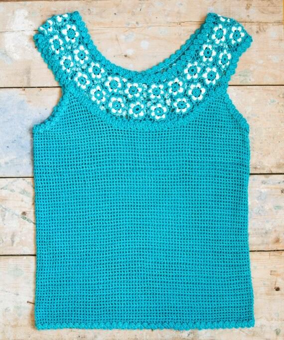 Irish Lace Knitting Pattern : Irish lace top. Hand knitted