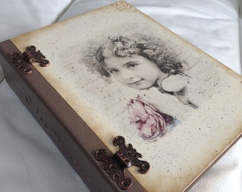 Book box, Jewelry box Vintage Keepsake Treasury box