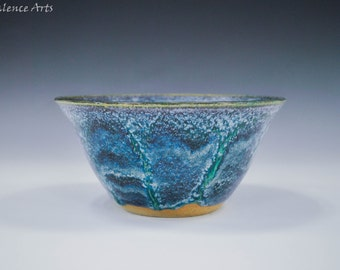 Blue and Turquoise Serving Bowl