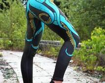 Cthulhu ,Cthulhu leggins, Cthulu,tentacle pattern, Video Game, pattern leggins yoga leggins, yoga pants, octopus leggins, chibli