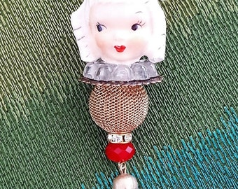 Whinsical Angel Head Tassel  Necklace (Free Shipping)