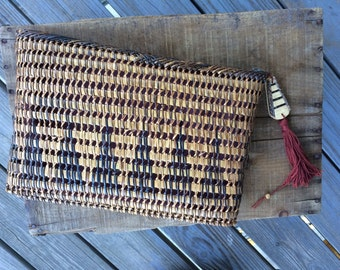 Vintage Wicker Oversized Clutch