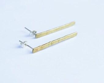 Brass earrings for her - Handmade earrings