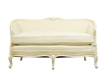 French Louis XV Style Love Seat Settee