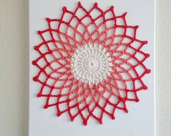 Wall Art Mandala, Crochet Wall Hanging, crochet Wall Hanging, Wall Decor, Crochet wall Art, fiber art, Living room decor, crochet canvas