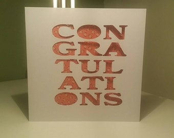 Congratulations card for all occasions.