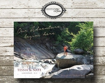 Personalized Photo Save the Date Wedding Digital Download File