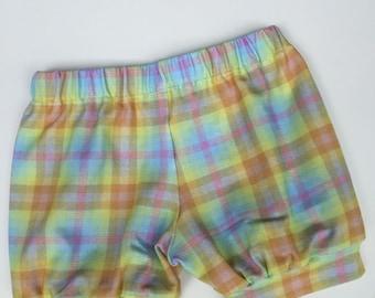 Pastel Shorts,  baby shorts, toddler shorts, bubble shorts, pastel