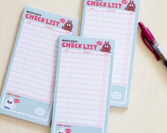 Sticky Notepad - Checklist - Mint