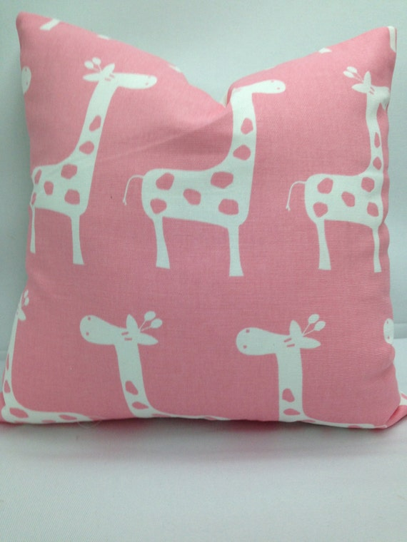 Baby Pink Decorative Pillows : Kids decorative pillow 12 square baby pink white