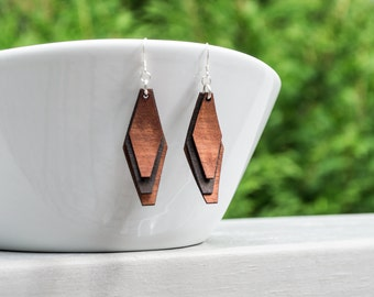 Wood Veneer Laser Cut Earrings