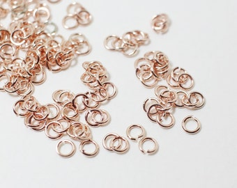 B0001/Anti-Tarnished Rose Gold Plating Over Brass/2mm Jumpring/2mm inner diameter,0.6mm thickness/8g(Approx 300pcs)