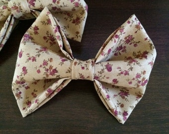 Hair Bow, Floral Hair Bow, Flower Hair bow, Vintage style, Vintage inspired