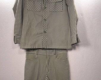 Vintage Men's Levi's Panatela Shirt Pants Suit Separates Sz M Medium Blue Hounds