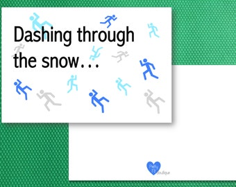 Holiday Cards - Dashing through the snow - Running card