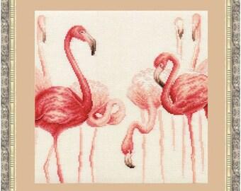 Cross Stitch Kit by Golden Fleece -  Flamingo N 2