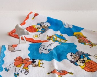 Set of two vintage Cinderella handkerchiefs