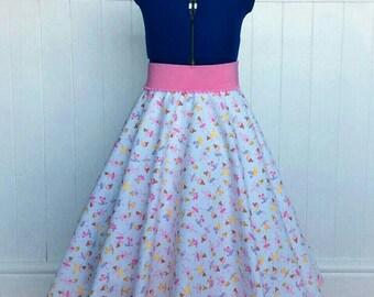 Custom made girls circle skirt