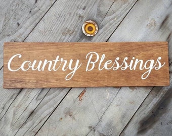 Rustic Home Decor, Wooden Signs, Reclaimed Wood Sign, Rustic wood sign  Country Decor