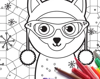 Adult Cat Coloring Page PDF download siamese kitty zen tangle printable adult coloring book activity cheap jpg jpeg gif cat kitty markers